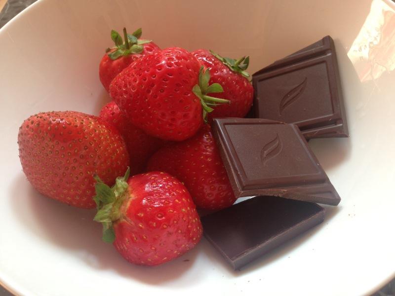 chocolate and strawberries- what i ate today