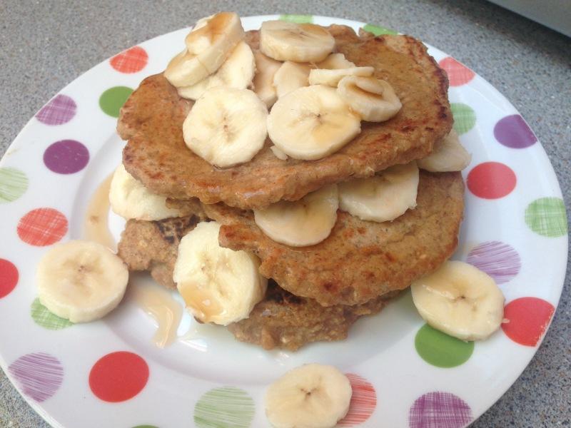 what I ate today- banana pancakes